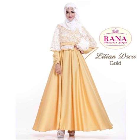 dress brokat mewah 12 model dress brokat muslim modern dan cantik elegantria