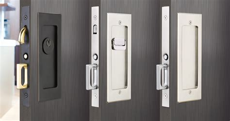 sliding door locks modern rectangular pocket door mortise lock emtek