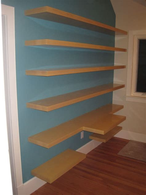 Wall To Wall Shelving by Custom Wall Shelving And Desk Top By Summerwood Woodworks