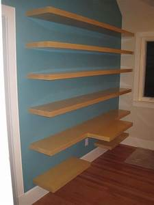Custom, Wall, Shelving, And, Desk, Top, By, Summerwood, Woodworks