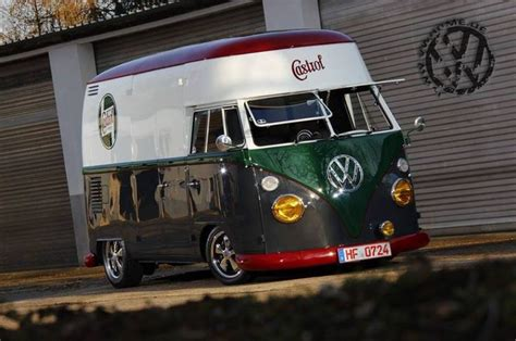 castrol oil high roof junk  stuff volkswagen bus