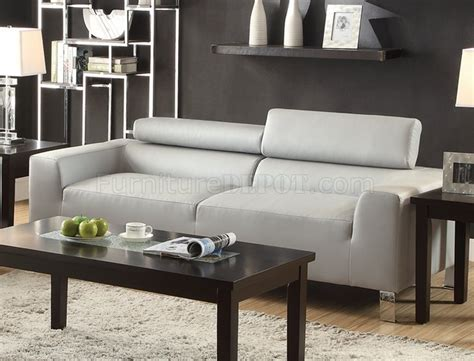 Light Grey Loveseat by F7265 Sofa Loveseat Set Light Grey Bonded Leather By Poundex