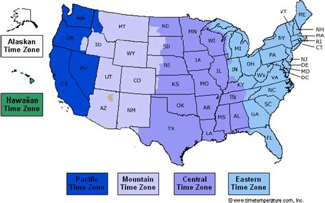 united states time zone chart clipart