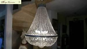 Lustre Pampilles Cristal : lustre montgolfi re argent en cristal de boh me youtube ~ Teatrodelosmanantiales.com Idées de Décoration