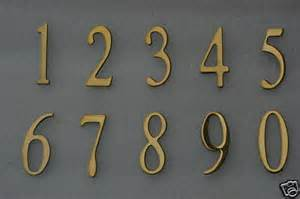 Address Numbers, Mailbox numbers, House numbers, BRASS