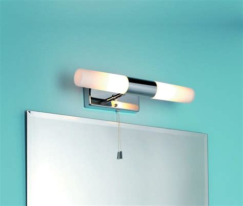 ip44 bathroom double wall light pull cord switch chrome glass shades 85014 5060300541066 ebay