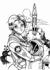 Coloring Astronaut Space Pages Female Outer Center Astronauts Kenworth Drawings Template W900 Sotomayor Sonia Popular sketch template