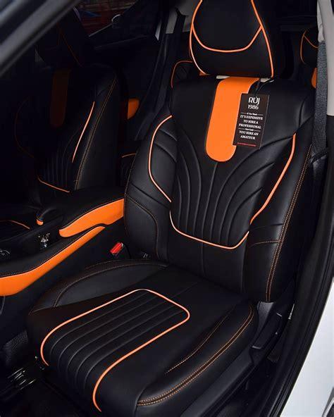 honda hr v full interior using lederlux synthetic orange and black auto addiction