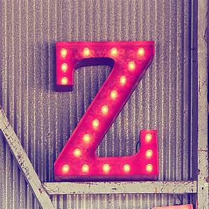 Rusty 24 inch letter z marquee light by vintage marquee lights for Marquee letter z