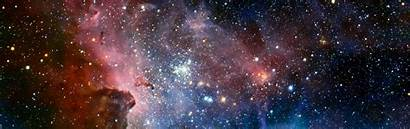 Space Nebula Wallpapers Desktop Dual Screen Display