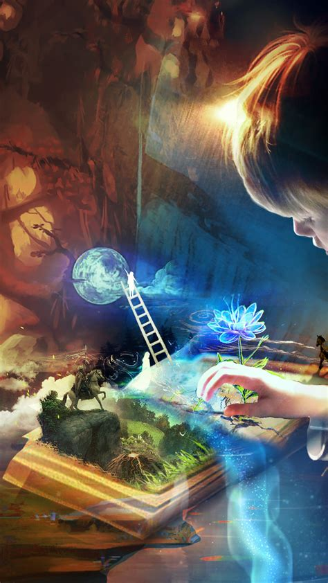 wallpaper imagination book kid hd creative graphics