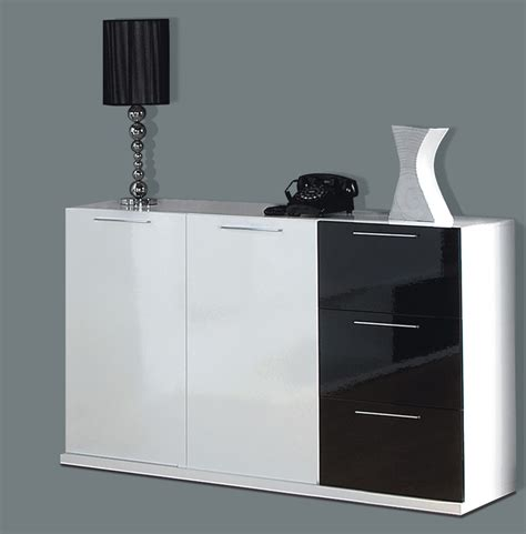 Black And White Sideboard by Alida Black And White Gloss Sideboard