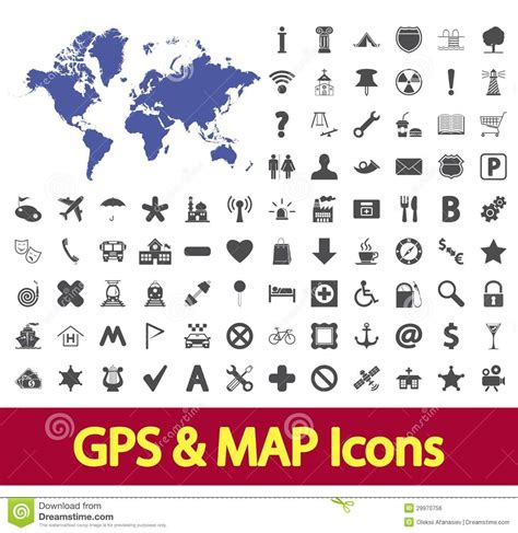 You can use these free icons and png images for your photoshop design, documents, web sites, art projects or google presentations, powerpoint templates. Navigation map icons. stock vector. Illustration of earth ...
