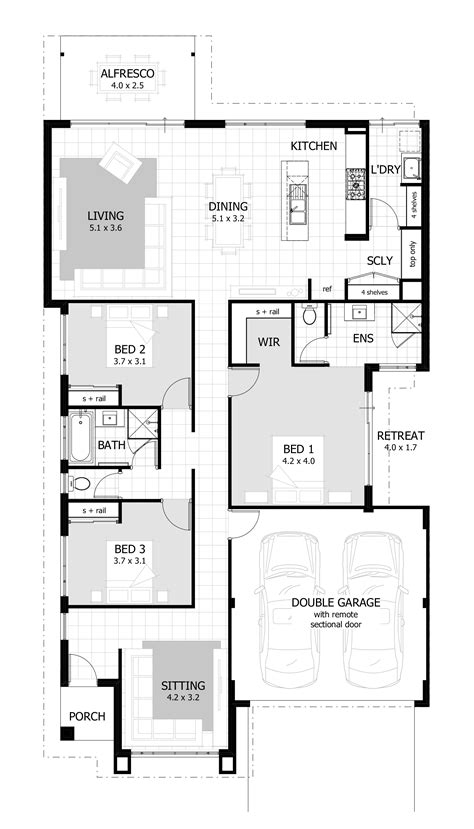 3 bedroom small house plans 3 bedroom house plans home designs celebration homes 17992 | PAXTON%20Furniture%20Layout