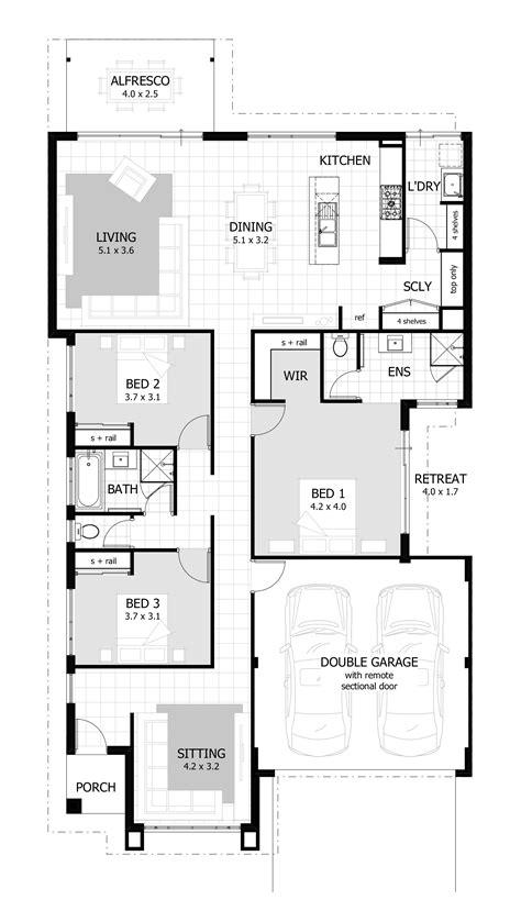 3 Bedroom House Plans & Home Designs  Celebration Homes