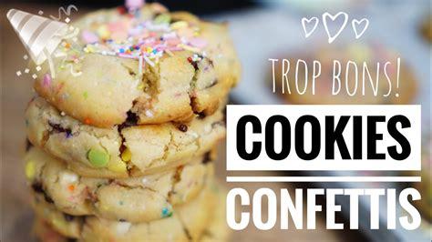 cookies hervé cuisine cookies confettis la recette bonheur à partager