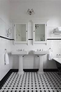 25, Black, And, White, Victorian, Bathroom, Tiles, Ideas, And