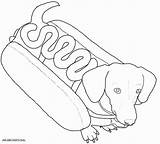 Coloring Dog Dogs Colouring Printable Costumes Wiener Boxer Sheets Puppy Sausage Dachshund Cartoon Line Weenie Drawing Dachsunds Adult Weiner Drawings sketch template