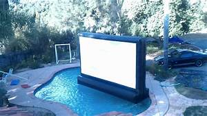 Floating Outdoor Inflatable Movie Screen In My POOL