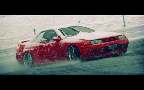 nissan skyline drift wallpaper nissan skyline r32 blizzard drifting cars snow wallpaper