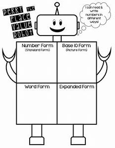Place Value Chart Printable Pdf Perry The Place Value Robot Student Poster By Hillary