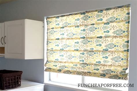 Easy Diy Nosew Roman Shades  Fun Cheap Or Free