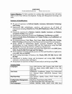 Qa Tester Resume No Experience The Best 31 Best Images