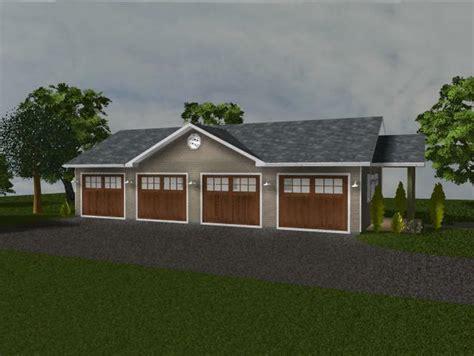 4 Car Garage by Custom 4 Car Garage Plan 1 248 Sf Blueprints 48x26 Ebay