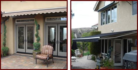 retractable fabric awnings riverside san bernardino orange county ca manual electric motorized