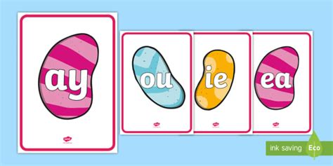 * New * Phase 5 Phonemes On Magic Beans Display Posters