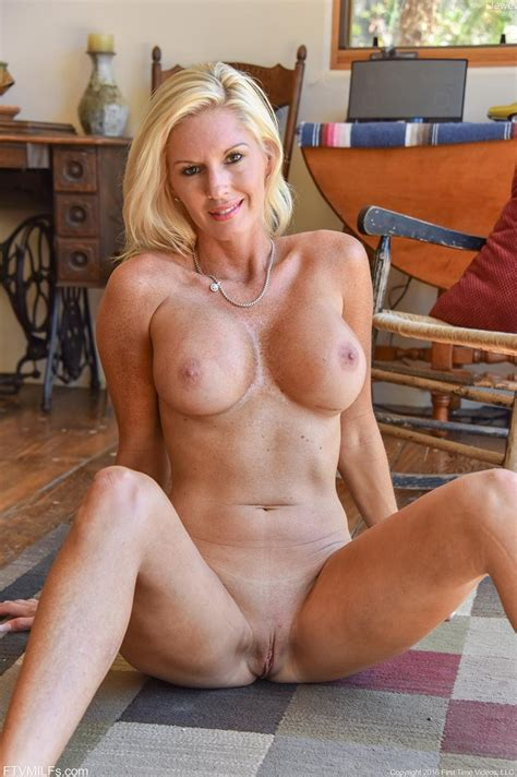 Busty Blonde Cougar With Firm Round Melons