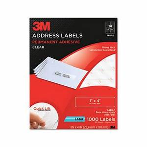 3m 3400f permanent adhesive clear laser mailing labels 1 With 3m return address labels
