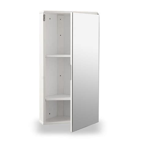white gloss corner bathroom wall cabinet at home