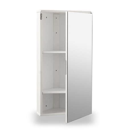 White Gloss Corner Bathroom Wall Cabinet  Roman At Home