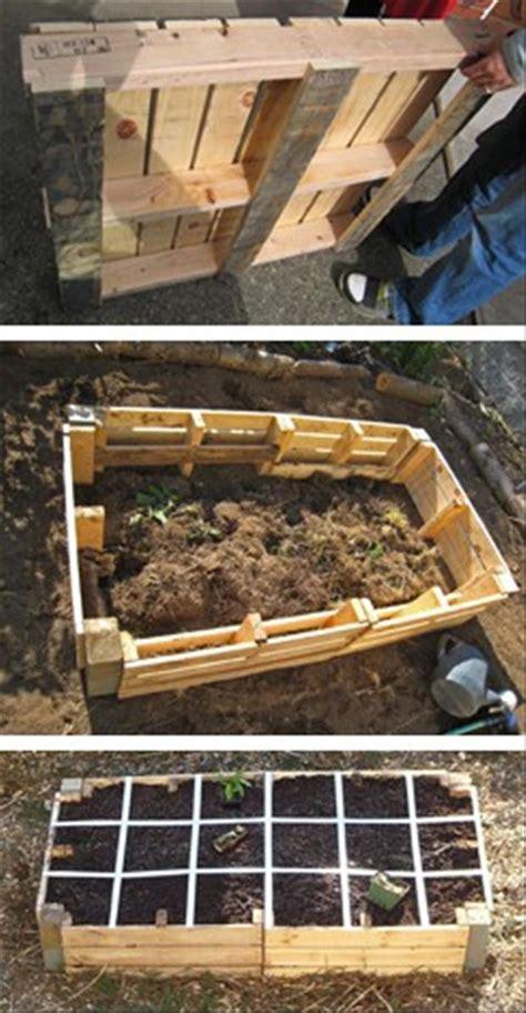 pallet garden bed pallet ideas raised garden dump a day