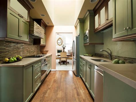 galley kitchen layout a guide to kitchen layouts hgtv 1161