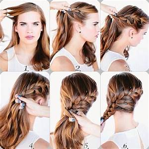 How To French Braid Your Bangs Step By Step With Pictures
