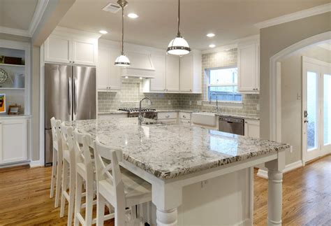 Wallpaper Kitchen Backsplash Ideas - diamond arrow granite kitchen traditional with white cabinets hole faucets