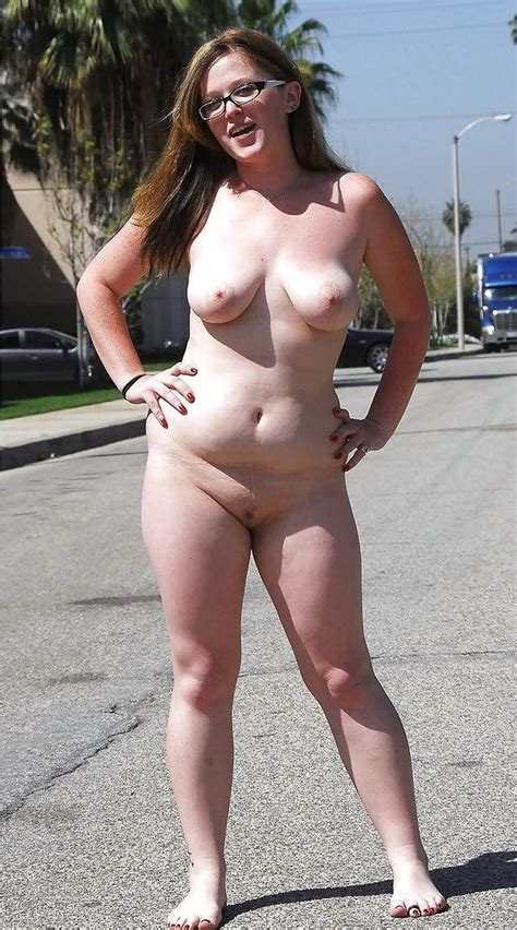 Brave Chubby Girl Goes Totally Nude On A Busy Street Porn