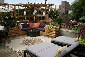 Günstige Terrassen Ideen : idee f r die gestaltung einer dachterrasse mit sitzecke und chaiselonge garden inspiration ~ Markanthonyermac.com Haus und Dekorationen