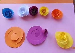 Comment Faire Une Rose En Papier Facilement : fleurs en papier ~ Nature-et-papiers.com Idées de Décoration