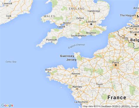 Guernsey - ģeogrāfiskā karte