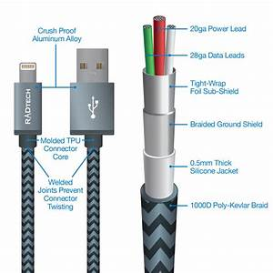 Heavy Duty Lightning Cable  45cm