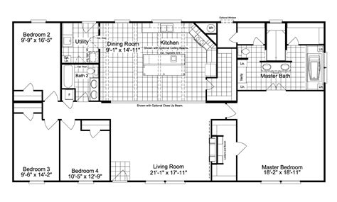 magnum home mlm manufactured home floor plan