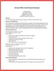 desk clerk resume sle