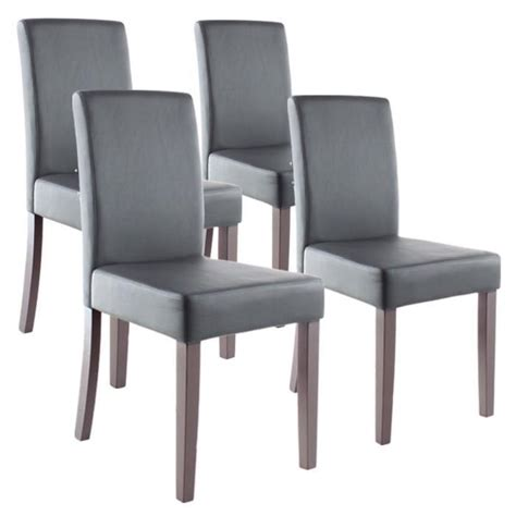 clara lot de 4 chaises de salle 224 manger grises achat