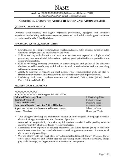 excel specialist sle resume circulation clerk sle resume