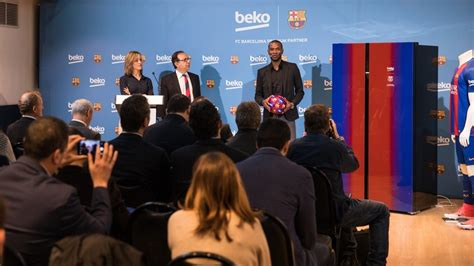 fc barcelona colors beko launches a new line of refrigerators in the fc