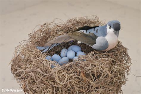 Diy Dollar Store Bird's Nest Spring Decor