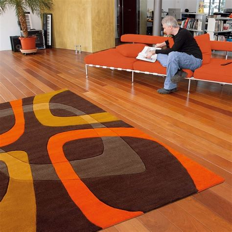 tapis marron et orange arte espina showtime 90x160